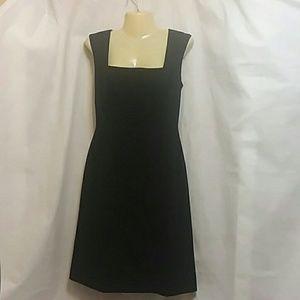 Tahari Arthur Levine Black Dress Pleated Bodice